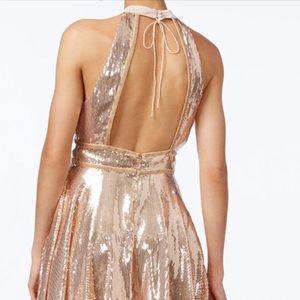 343ac2f4eeb2 Free People Dresses - FREE PEOPLE Film Noir Sequin Mini Dress Gold NWT